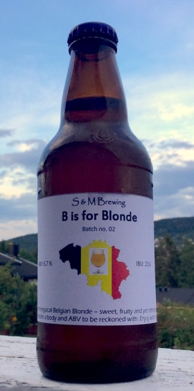 S & M Brewing B is for Blonde